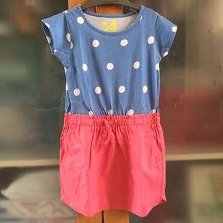cotton on kids blue pink polkadot dress