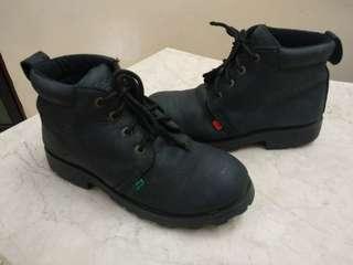 Sepatu boots kickers asli kulit  unisex