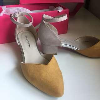🚚 oriental traffic 時尚V口繞踝瑪麗珍鞋