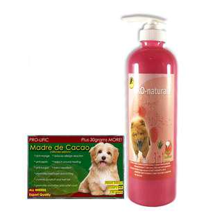 Pro-naturale 3 in 1 dog and cat shampoo 500 mL (Raspberry)& madre de cacao soap 130grams