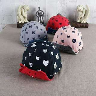 Cute Design Kitten Baby Kids Cap Sun Hat