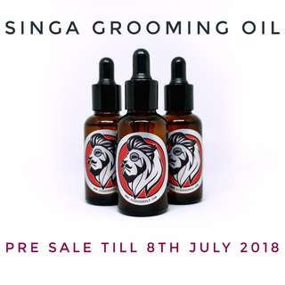 🚚 Ziggy Supply Singa Grooming Oil (Beard Oil + Hair Tonic)