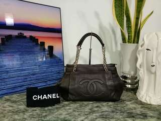 Authentic Chanel Caviar Leather Bag