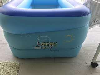 Ball Pit- Inflatable Pool + Balls