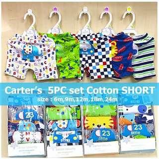 Carter's 5pc Cotton Shorts - BOYS