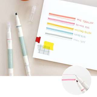 Iconic 2 Way Marker Pen - Retro Colors - 5 Color Set