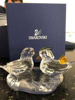 Swarovski love birds