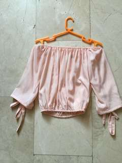 Fudge Rock Pastel Off shoulder