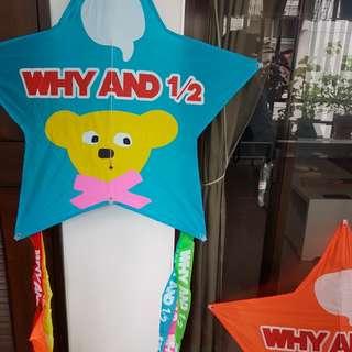 WHY AND 1/2普普熊star風箏-藍