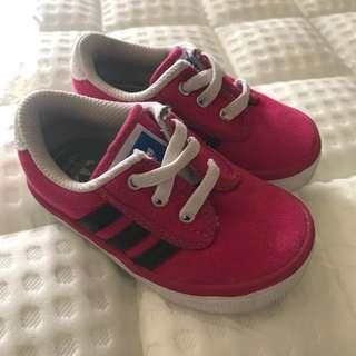 Baby girl Adidas Ortholite shoes 12-18mos