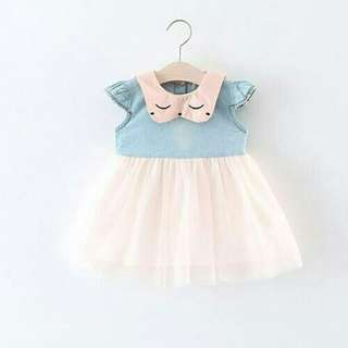 Sweet Kitten Lace Dress for Baby Girl