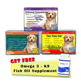 Prolific Moringa, Oatmeal, and Tea Tree Organic Soap for Cat and Dog 130g with Free Fish Oil 30 Soft Gels