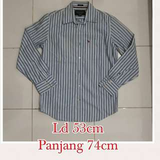 Kemeja Abercrombie and Fitch stripes