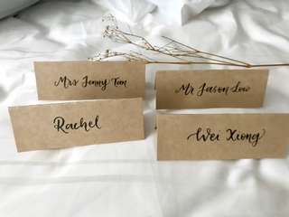 Event / wedding name placecards
