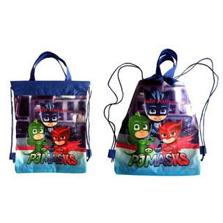 PJ MASKS PARTY DRAWSTRING STRING LOOT BAG GIVEAWAYS SOUVENIRS FAVOR