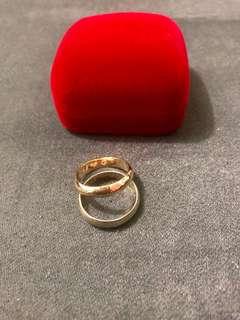 18K Saudi Gold Wedding Ring with Free Engrave