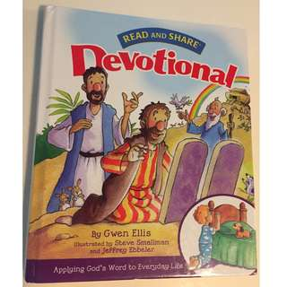 Read and Share Devtional Book Children's Christian devotional book by Gwen Ellis
