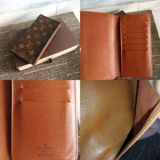 LV monogram long wallet