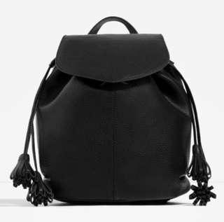 ZARA Leather Tassel Bag