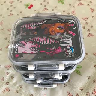 BN Monster High Kids lunch boxes with cutlery
