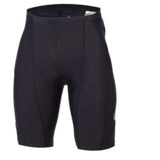 GrabMee Cycling Plain Black Padded Short