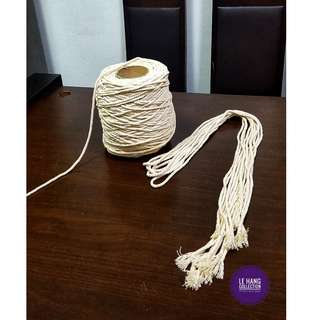 Cotton rope ~ 50mm, 60mm, 70mm ~ 10 meters ~ macrame supplies