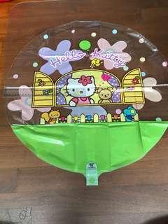 XXL 25 inch Transparent Hello Kitty Birthday Balloon