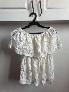 White Off-shoulder Lace