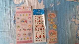 全新 Little Twin Stars Melody Sanrio stickers 貼紙