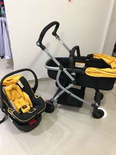 Goodbaby baby stroller + car seat