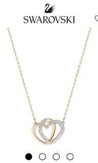 Swarovski Dear necklace double heart