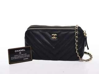 Chanel cevron slingbag