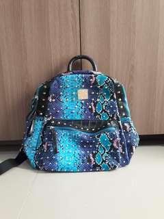 JTXS Leather Blue Snakeskin (MCM bags lookalike)