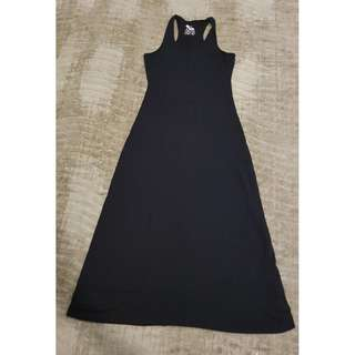 FATORIA BLACK LONG SLEEVELESS DRESS