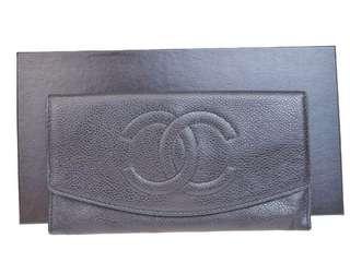 Chanel Wallet 黑色長銀包