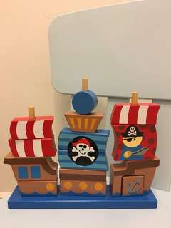 Stephen Joseph Wooden Pirate Ship Stacker