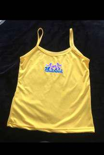"Yellow ""bad girl"" top"