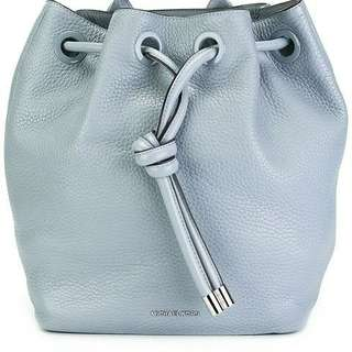 For sale authentic Michael Kors Dalia Leather Drawstring Backpack Bag Dusty Light Blue Large