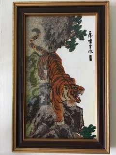 Gemstone Painting of Tiger