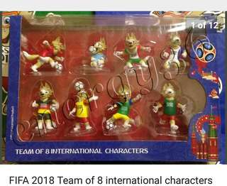 World Cup 2018 official merchandise!!! Rare team of 8 characters