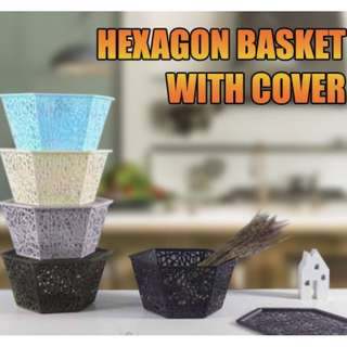 HEXAGON BASKET WITH COVER