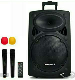 Portable Sound System with Mics For Rent. Price$50 per day.
