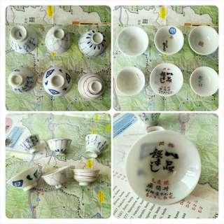 🚚 【LoveloVe】日本早期手工陶瓷小酒杯