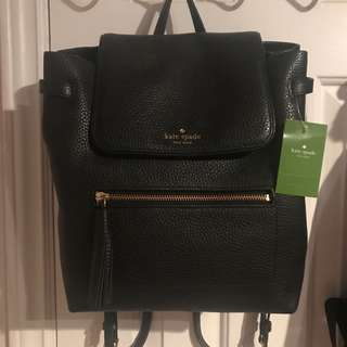 Kate Spade Chester Street Kacy Black Leather Backpack