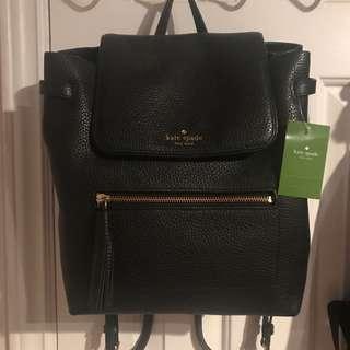 Kate Spade Chester Street Kacy Black Leather Backpack