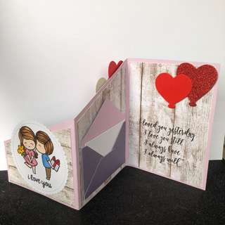 Anniversary or birthday z fold card