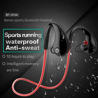 Bluetooth Headphones - Adjust Music Volume, Dual-ModeBluetooth,120mAh, 10m Bluetooth Range, Build-In Mic, Smart Response (Red) Or (Blue) (CVAIA-A908)