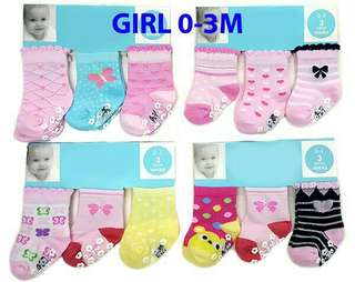 CRT 3 in 1 Assorted Baby Socks (3 Pairs)