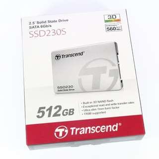 Transcend 創見 2.5吋 SATA3 SSD230S 512GB SSD 固態硬碟(3D TLC)