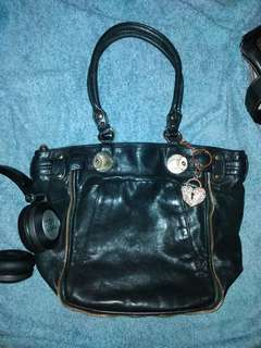 Juicy Couture Genuine Lamb Leather Shoulder Bag